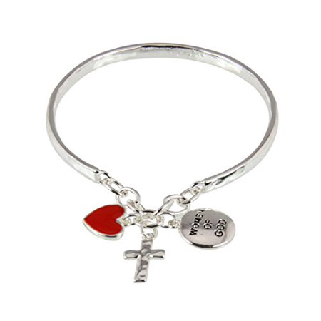 Women of God Bangle Style Bracelet Godly Woman Christian Faith