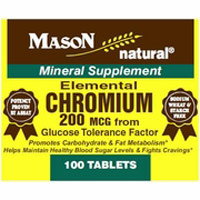 Mason Natural Elemental Chromium 200 Mcg Tablets - 100 Ea,