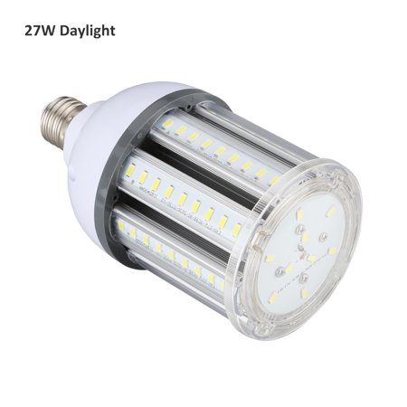 Lampwin 27W(250W Equivalent)LED Corn Bulb, 2700 lumen 6500K, Daylight White LED Street and Area Light, E27 Common Screw Base, For Outdoor Garage Factory Warehouse Barn Backyard and More