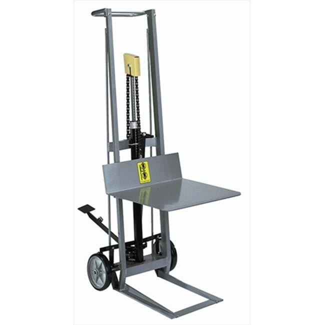 Wesco 260004 20 inch x 22 inch Magnesium Frame Hydraulic Pedalift With 40 inch Raised Height by