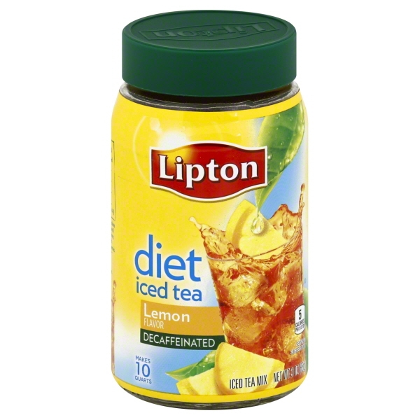 Lipton Iced Tea Mix Diet Decaffeinated Lemon 10 qt