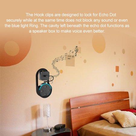Wall Mount Hanger Stand for Echo Dot 1st & 2nd Speaker Home Holder in Living Bathrooms Studying Room Black - image 5 of 7