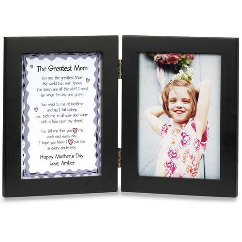 """Personalized """"Greatest Mom"""" Bi-Fold Frame"""