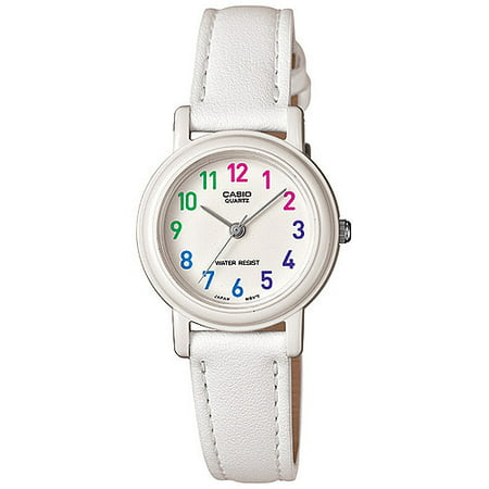 Patent Leather Watch (Women's Stainless Steel Analog Watch, White Leather)