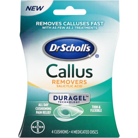 Dr Scholls Corns (Dr. Scholl's CALLUS Removers with Duragel Technology, 4ct (One Size) )