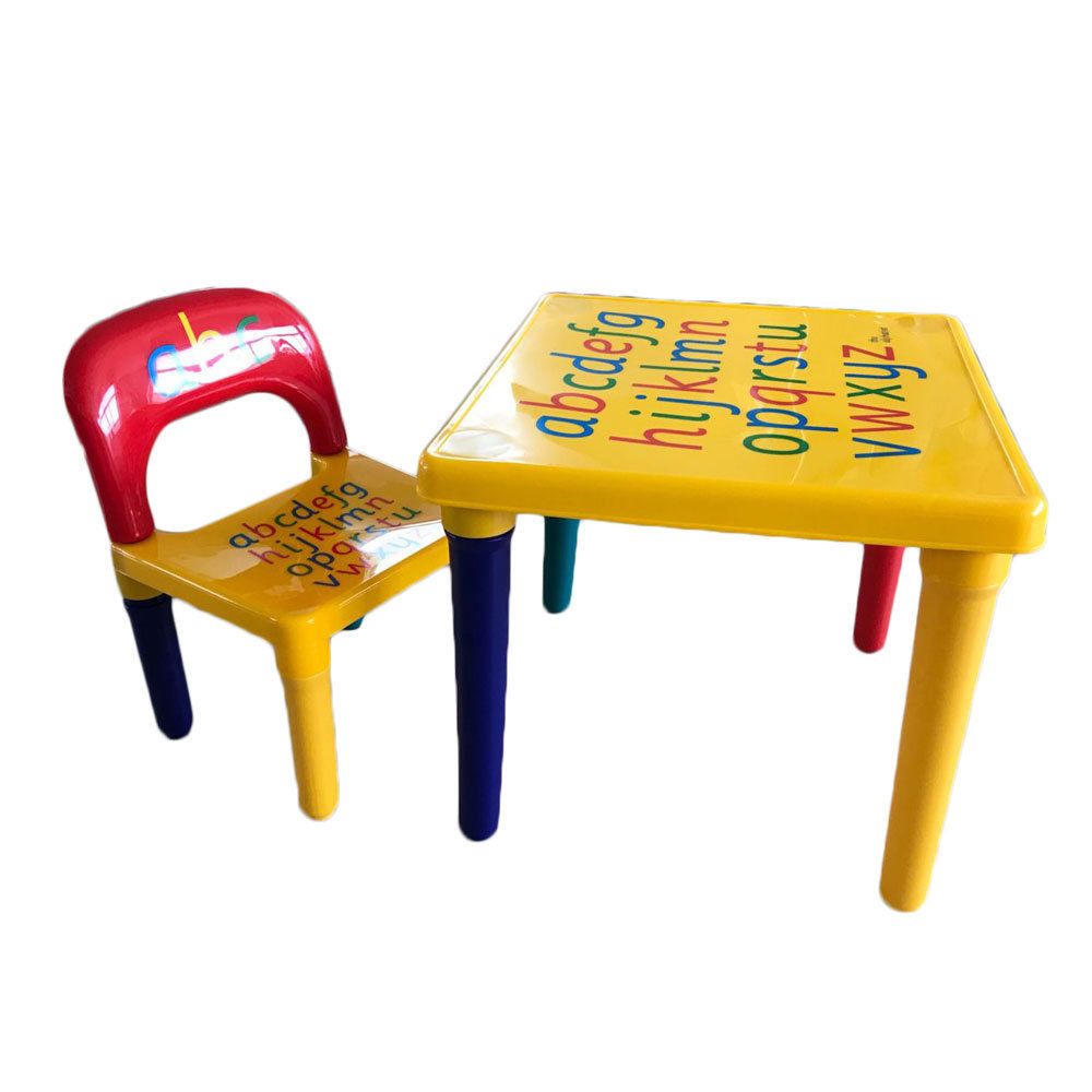 Awesome Ghp Yellow Red Plastic 17 72X17 72X16 14 Kids Table 12X10 63X16 14 Kids Chair Unemploymentrelief Wooden Chair Designs For Living Room Unemploymentrelieforg