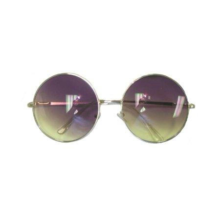 Purple/Yellow Fade Janis Joplin Round Sunglasses  Hippie 60s 70s Glasses Costume](60s And 70s Costumes)