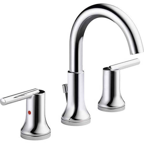 Delta Trinsic Two Handle Widespread Bathroom Faucet Chrome