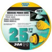 Power Zone ORM30925 Marine Pwr Cord 10/3 25Ft 30A Marine Power Cords
