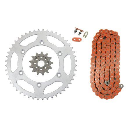 Orange 520x112 Drive Chain & 13/48 Gearing Yamaha MX Bikes 13T & 48T  Sprockets