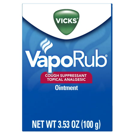 Vicks VapoRub Original Cough Suppressant Topical Analgesic Ointment 3.53 oz, Best used for relief from cold symptoms, aches, and (Best Medicine For Copd)