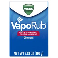 Vicks VapoRub Original Cough Suppressant Topical Analgesic Ointment 3.53 oz, Best used for relief from cold symptoms, aches, and pains