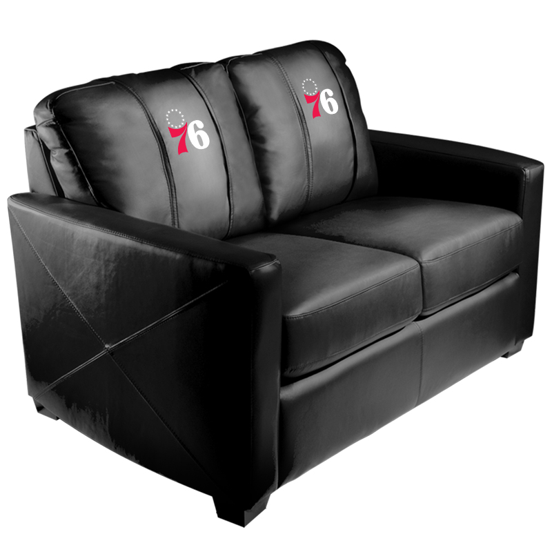 Philadelphia 76ers NBA Silver Love Seat with Primary Logo Panel