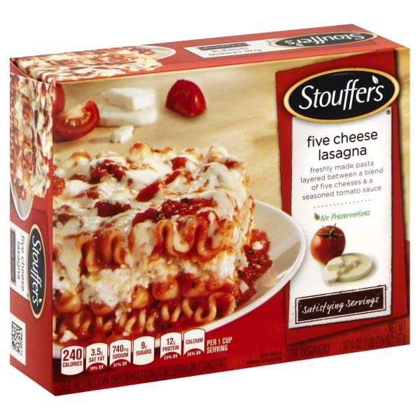STOUFFER'S CLASSICS Large Size Five Cheese Lasagna 18.25 oz. Box