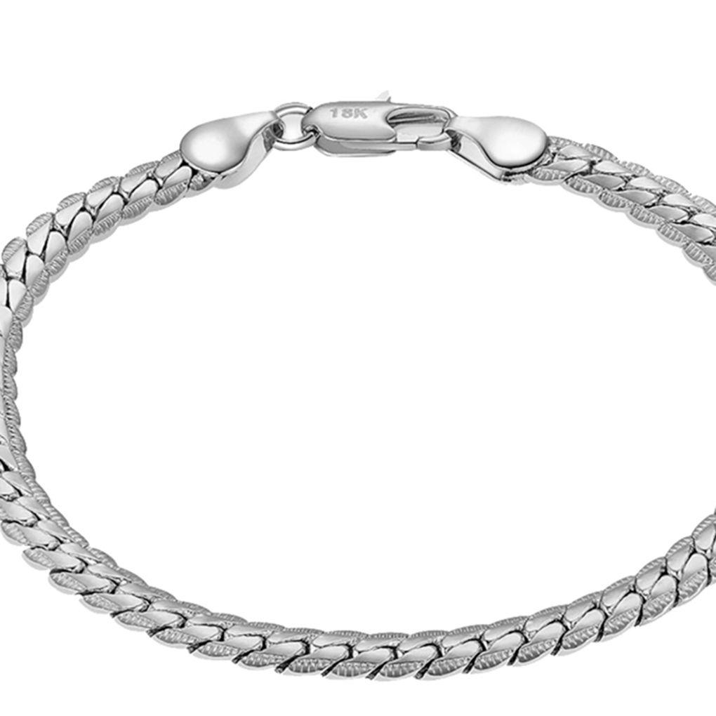 Trendy Wrist Jewelry Making Connectors Exquisite Chain Bangle for Men Women Gift Veraing 18Pcs Chain Bracelets OT Toggle Clasps Bracelet Link Silver/&Gold