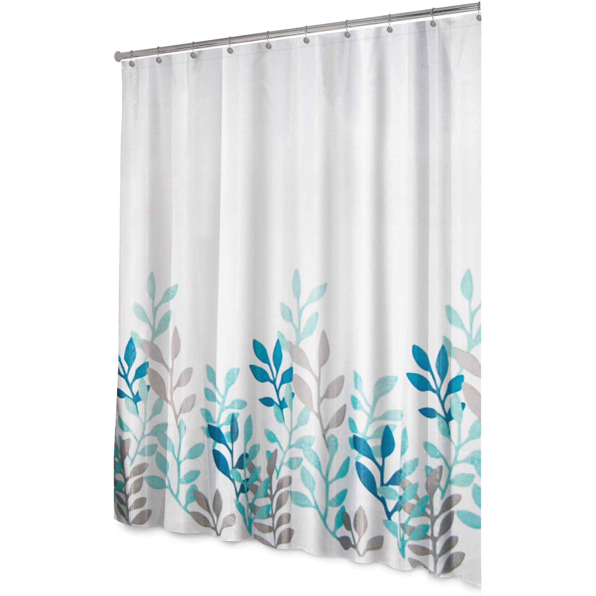 Splash Home Polyester Fabric Shower Curtain