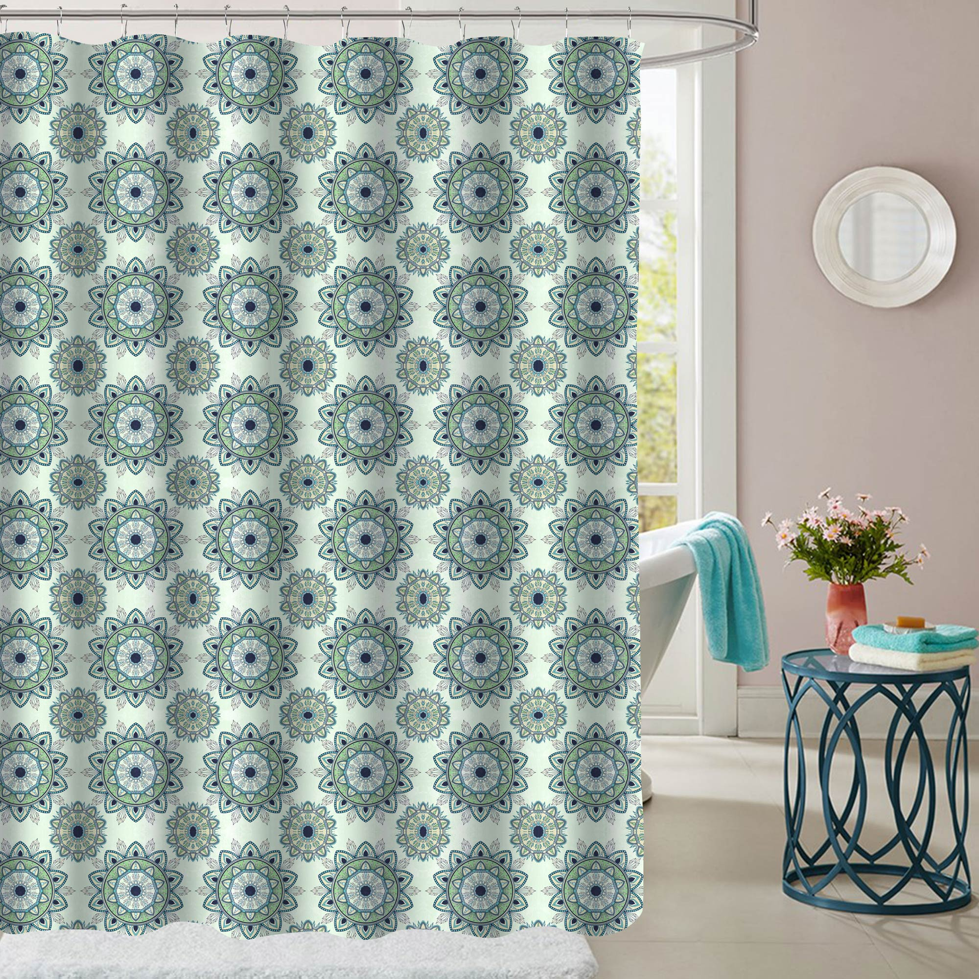 Fabric Shower Curtain 72 X 70 Printed Patterns Floral 15