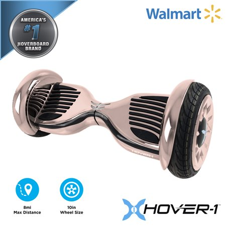 Hover-1 Titan UL Certified Electric Hoverboard w/ 6.5 Wheels, LED Lights, Bluetooth Speaker, and App Connectivity - Rose Gold