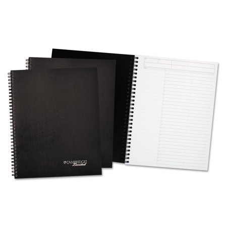 Cambridge Limited Action Planner Business Notebook Plus Pack, 9 1/2 x 7 1/4, Black, 80 Sheet, 3/PK (Coastlines Notebook Planner)
