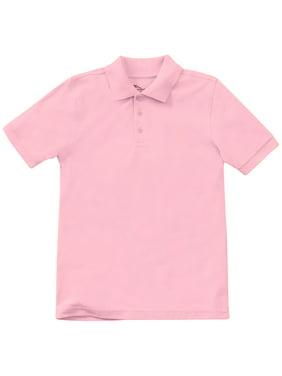 Classroom School Uniform Adult Unisex Short Sleeve Pique Polo, 58324, M, Pink