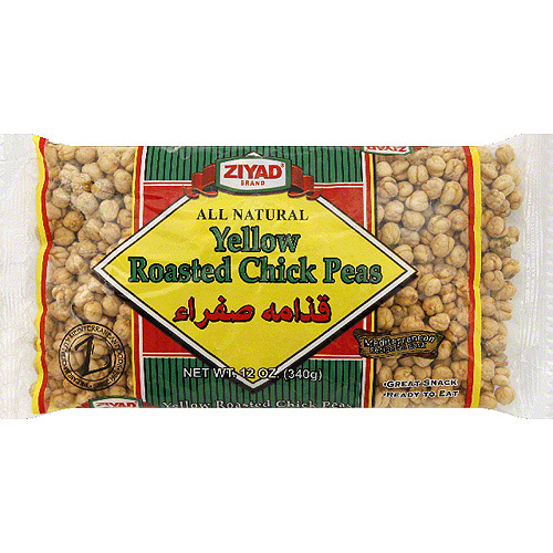 Ziyad Brand Yellow Roasted Chick Peas, 12 oz, (Pack of 6)