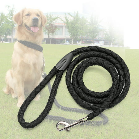 Nylon Dog Leash 5ft Long Walking Dog Rope Metal Clasp Dog Chain Traction Rope for Medium Dog Training Walking Outside - image 7 de 7