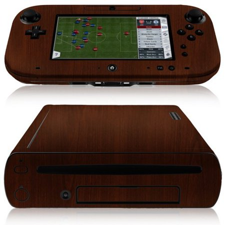 Wwii Wood - Skinomi Dark Wood Full Body Skin Cover Film for Nintendo Wii-U and GamePad