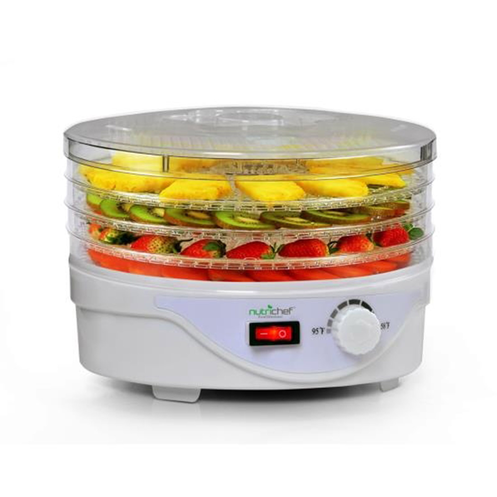 NutriChef Compact Electric Countertop Food Dehydrator - Food Preserver