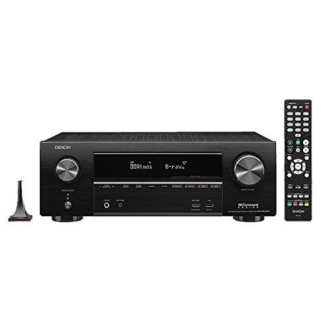 DENAVRX1500H Denon AVR-X1500H 7.2 CH 80W 4K Ultra HD WiFi/Bluetooth AV Receiver with HEOS state-of-the-art 3D surround sound Control and Alexa voice commands for stunning home theater experience