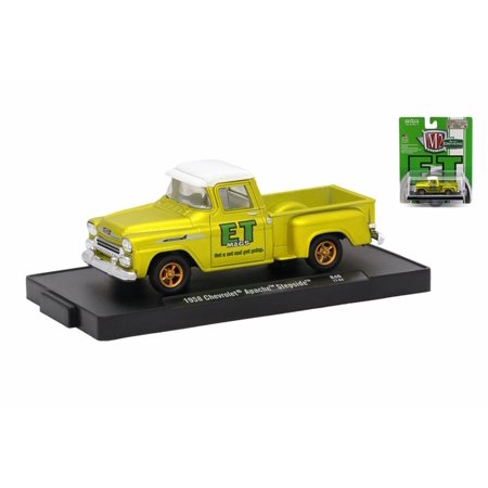 - 1958 Chevy Apache Stepside Pickup, Gold Satin Yellow - Castline M2 11228/49 - 1/64 Scale Diecast Model Toy Car