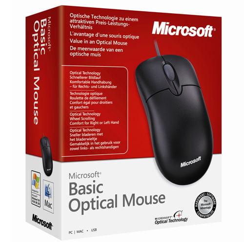 Genuine Black Microsoft USB Basic Optical Mouse v2.0 w/ Scroll Wheel