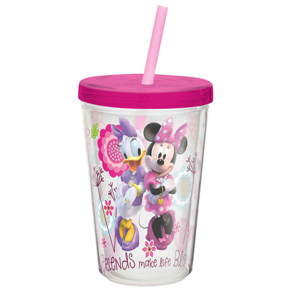 Minnie Mouse Cup Insulated Tumbler with Straw by Zak!
