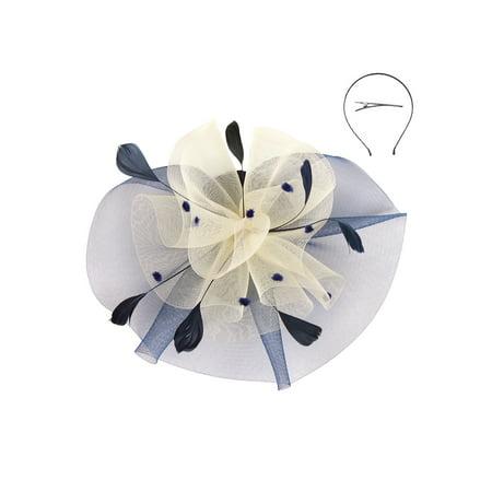 Chic Headwear Fashionable Church Fascinator w/ Floral Center - image 1 de 1