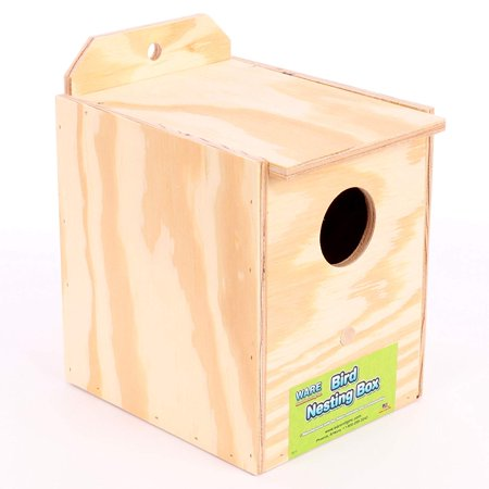 Wood Parakeet Regular Nest Box, Keet, Durable Parakeet Nesting Box Made Out of All Natural Wood By Ware Manufacturing