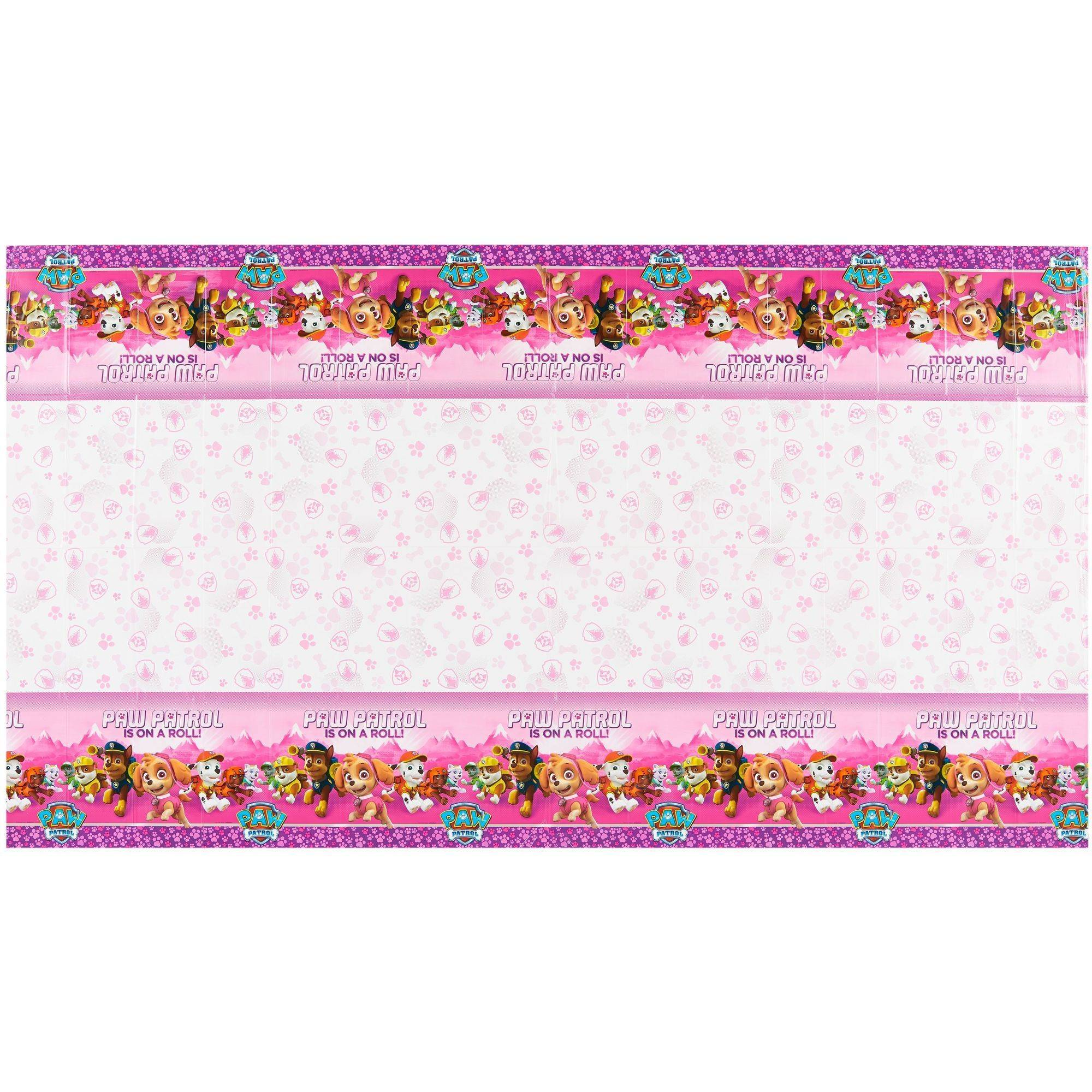Paw patrol pink plastic table cover 54 x 96 walmart kristyandbryce Images