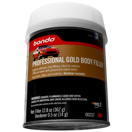 Bondo Professional Gold Filler, 00237, 12.80 oz.