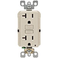 Leviton SmartLockPro Self-Test Rounded Corner GFCI Outlet