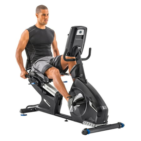 Nautilus R618 Bluetooth Recumbent Bike Syncs with RideSocial & Nautilus Trainer 2