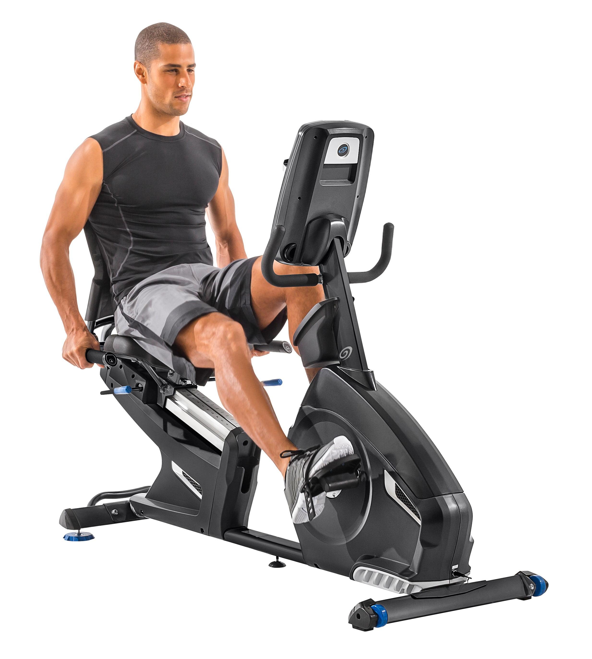 Nautilus R618 Bluetooth Recumbent Bike Syncs with RideSocial & Nautilus Trainer 2 App