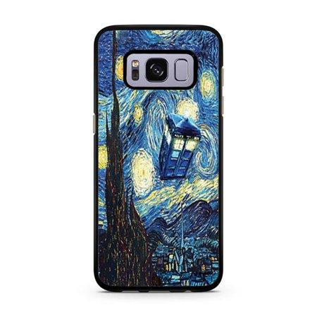 newest b04c2 879f6 Doctor Who Starry Night Tardis Galaxy S8 Case