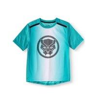 Marvel Black Panther Short Sleeve Performance Tee Shirt (Little Boys & Big Boys)