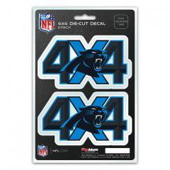 Carolina Panthers 4x4 Decal Pack