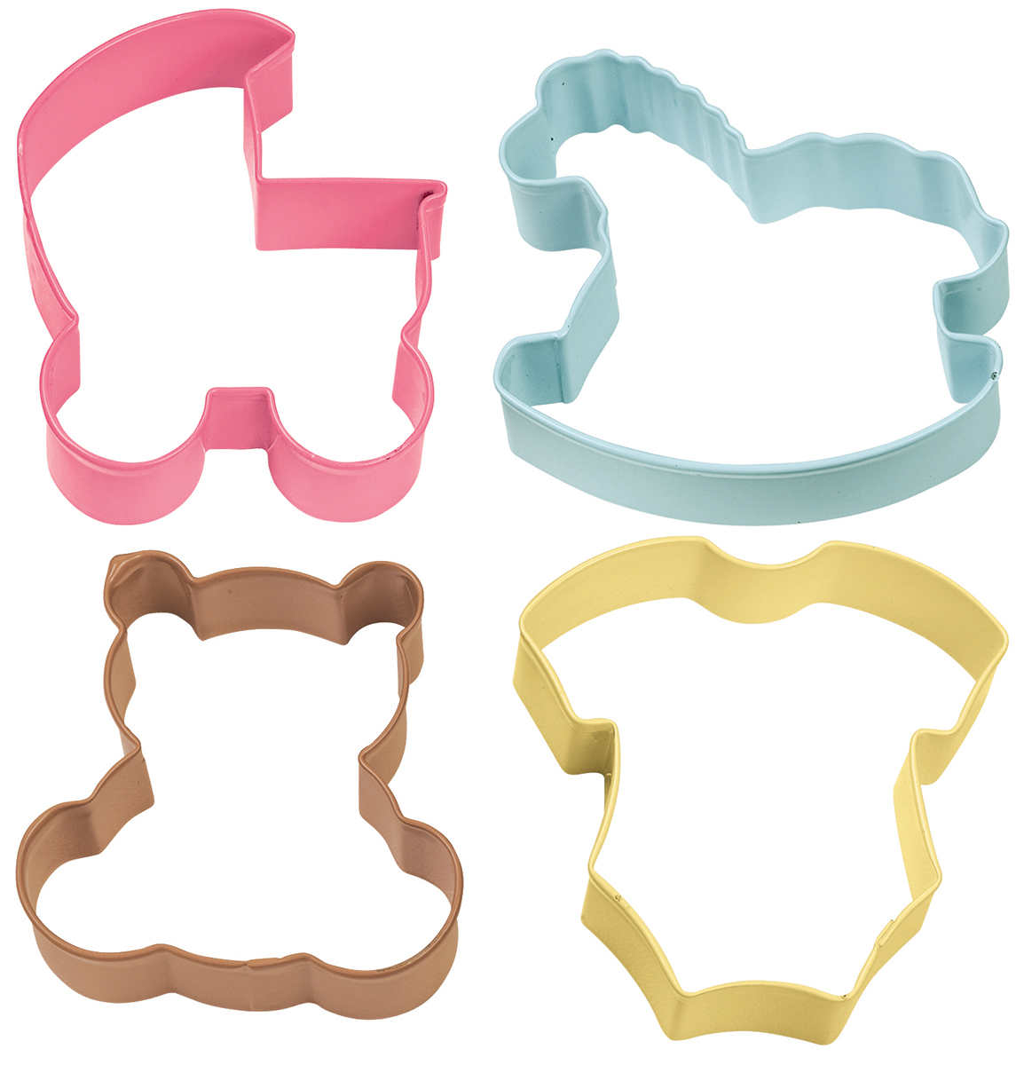 Metal Cookie Cutter Set 4/Pkg-Baby Theme