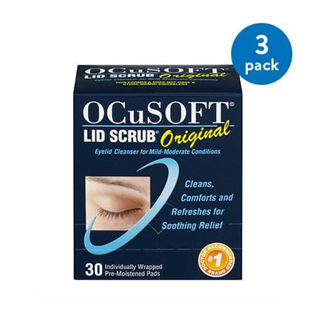 (3 Pack) Eyelid Cleanser OCuSOFTî Lid Scrubî 30 per Box