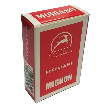 Siciliane Sicilian Italian Regional Deck 40 Playing Cards Mini Size Mignon (Mini Artifice Playing Cards)