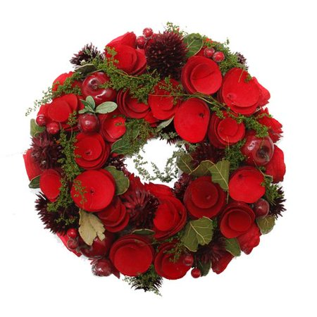 Northlight Seasonal Roses and Berries Artificial Christmas 20'' Wreath ()