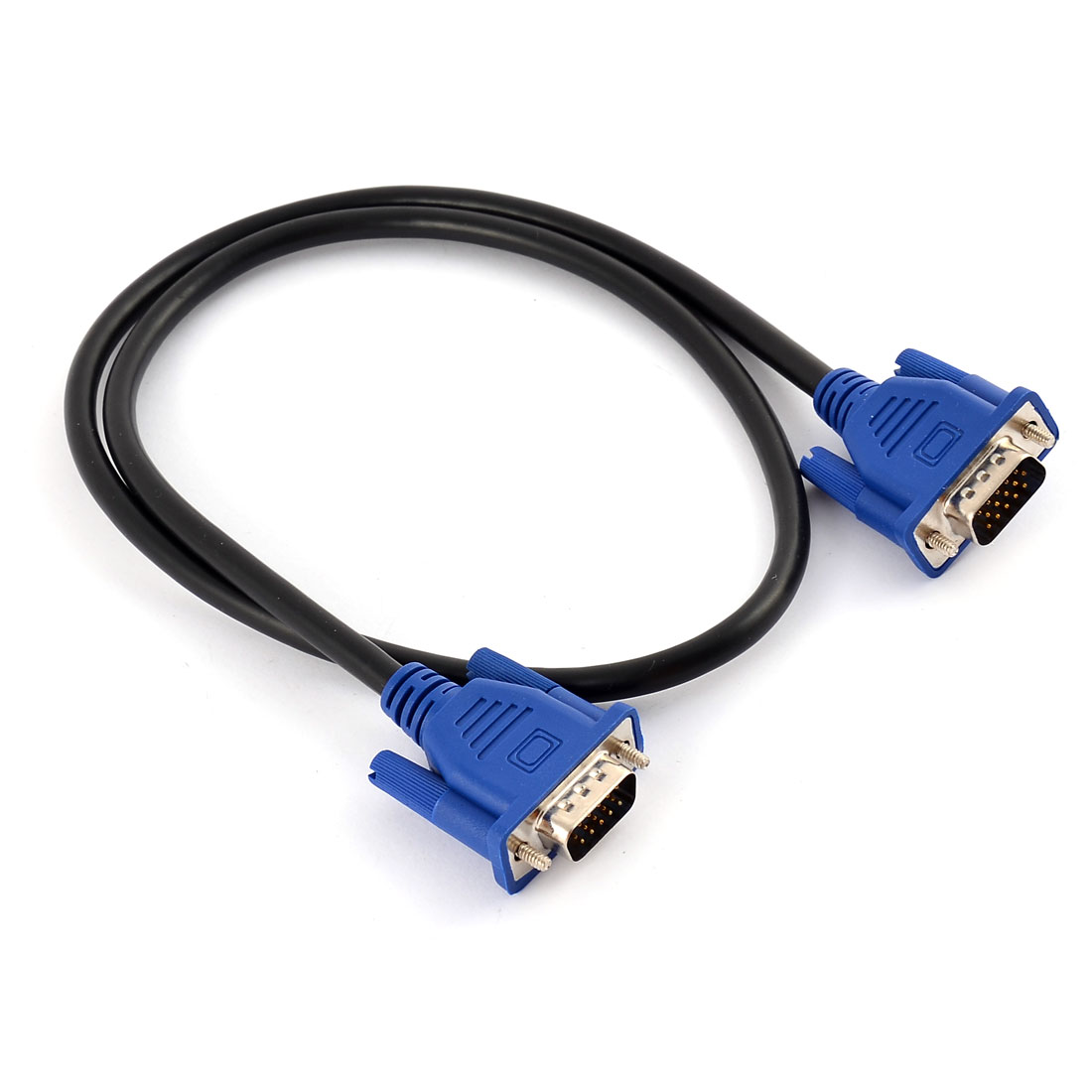 70cm Long Monitor 15 Pin VGA Male to Male M/M Extension Cable Cord Adapter Wire