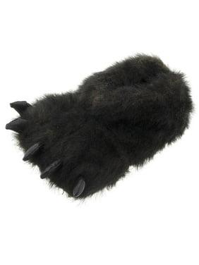 11db54ffa9d Product Image SG Footwear Men s Black Bear Paw Plush Slippers