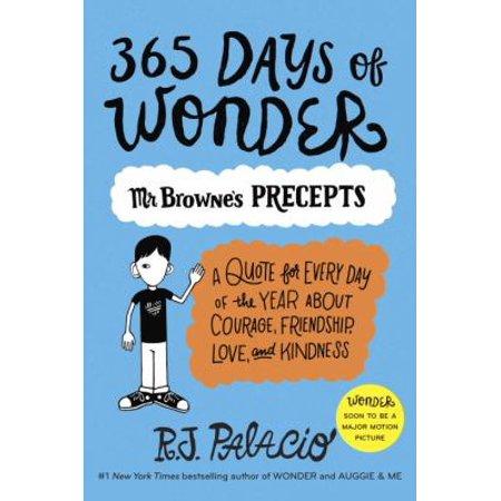 365 Days Of Wonder  Mr  Brownes Of Precepts