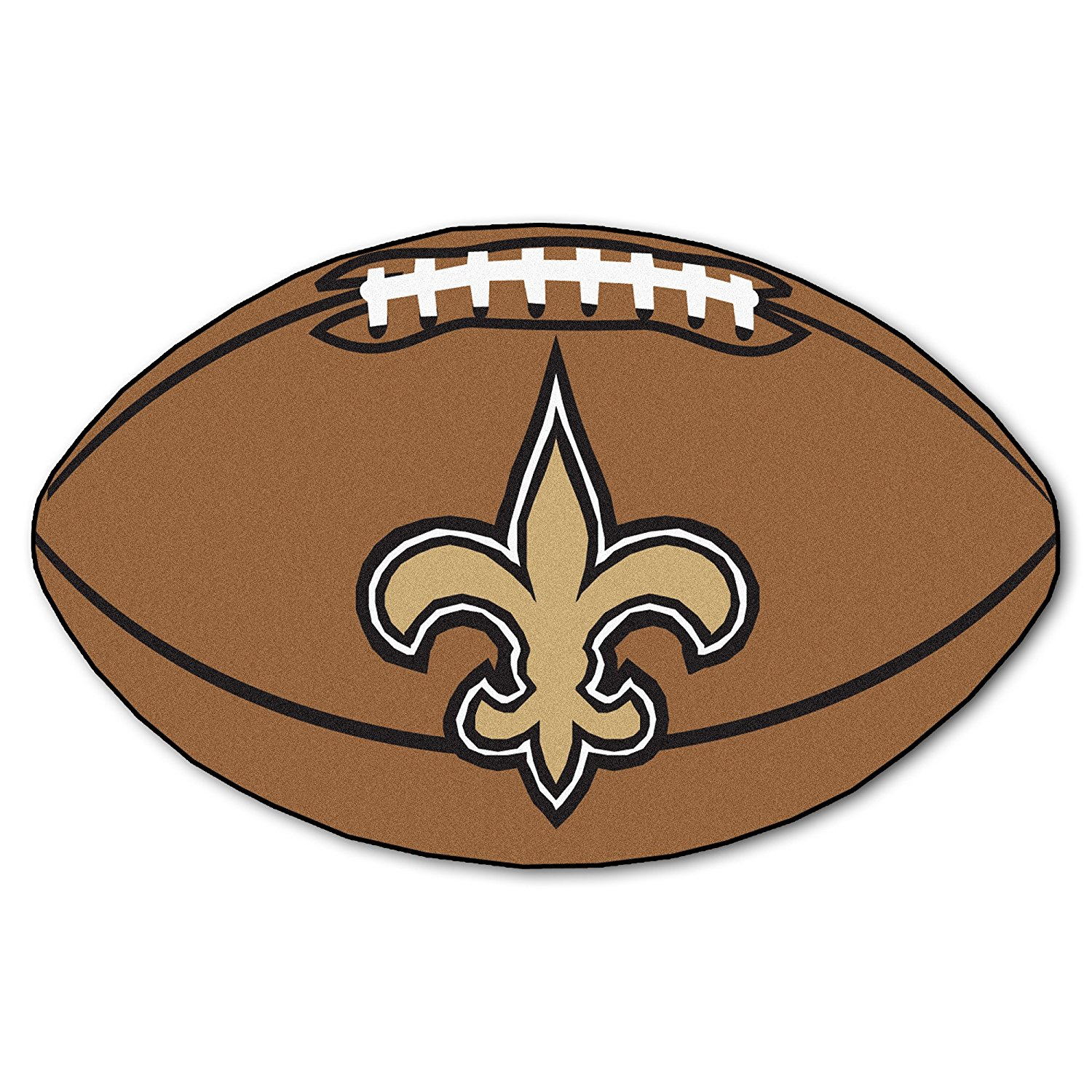 NFL New Orleans Saints Nylon Face Football Rug, 22 inches x 35 inches By Fanmats